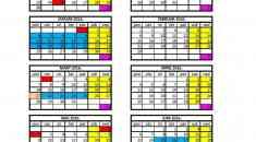 Kalendar za školsku 2015-2016.god.